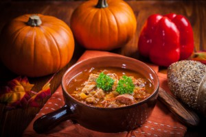 Gourmet hearty goulash soup